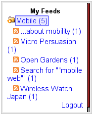  NewsGator Feed List