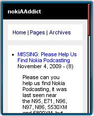 nokiAAddict Mobile Site 