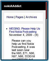 nokiAAddict Mobile Site