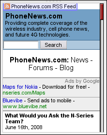 PhoneNews Home Page