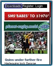 Planet-Rugby Mobile Website