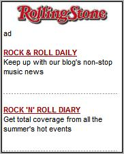 RollingStone Mobile homepage