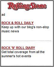 RollingStone Mobile homepage