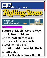  Rolling Stone on Avantgo