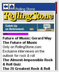 Rolling Stone on Avantgo