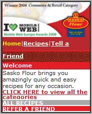 Sasko Flour Homepage