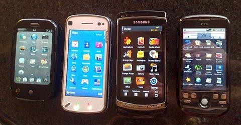 Palm Pre, N97, Samsung i8910, HTC Ion