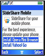SlideShare - Best Viewed With Opera Mini!