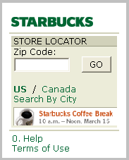 Starbucks Locater