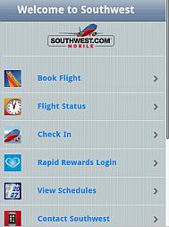 Southwest Airline iPhone WebApp