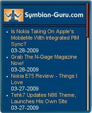 Symbian-Guru Mobile Homepage