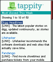 Tappity - Most viewed