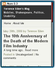 Mobile Edition of Terrence Eden's Blog
