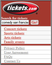 Tickets.com Homepage