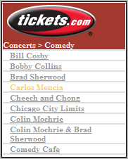 Tickets.com Comedy Category