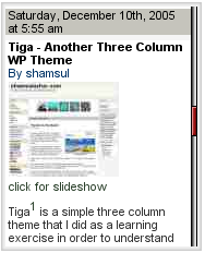 Wordpress Tiga theme