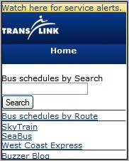 Vamcouver Translink Mobile