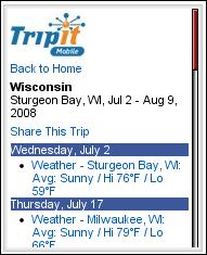 Tripit Mobile Trip Overview