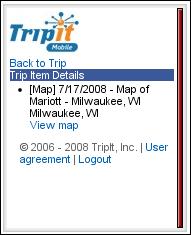 Tripit Mobile Trip Detail