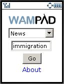Wampad main page