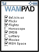  Wampad options  