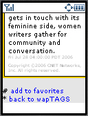 &nbsp; cnet with Waptags &nbsp;