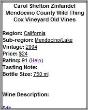 Wines.mobi detail page