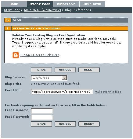 Winksite Web page