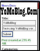 YoMoBlog Screenshot