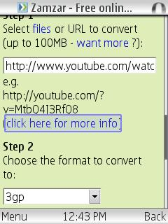Opera Mini Media Converter Bookmarklet