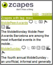 zcapes MWC mobile mini-blogs