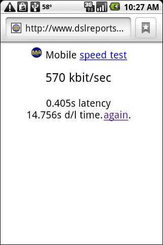Google Ion Speed Test
