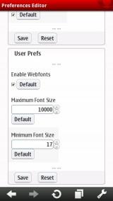 Minimum Font Size Setting