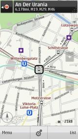 Ovi Maps Transit Layer