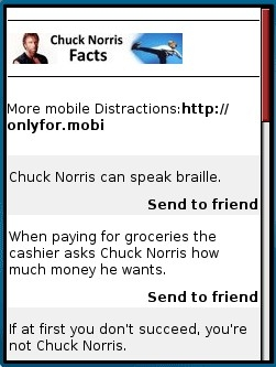 Chuck Norris Facts Mobile