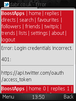 Twitter OAuth Failure
