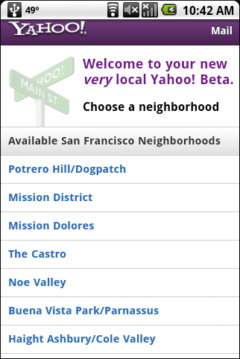 Yahoo Local Beta - Select Neighborhood