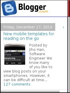Blogger In Draft Mobile Home Page