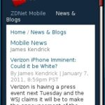 ZDNet Mobile News Blog