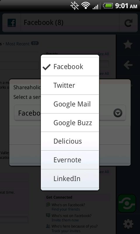 Firefox Mobile Sharing