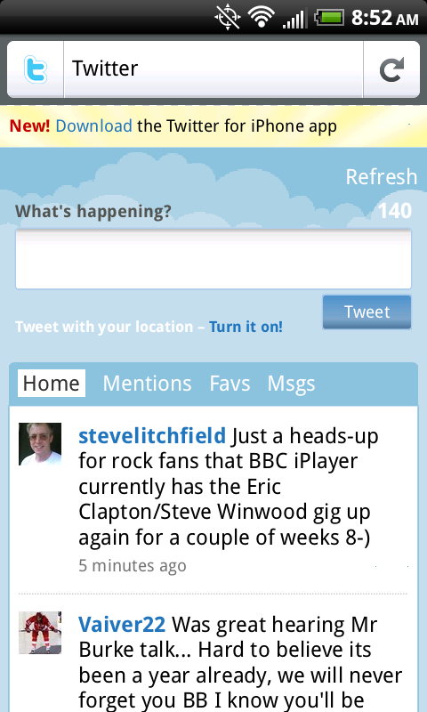 Firefox Mobile - Twitter for iPhone
