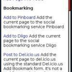 Mobile Bookmarklets