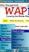 Page Tools Menu