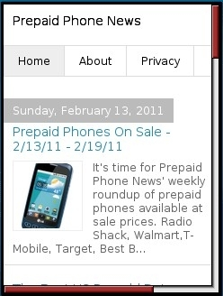 prepaid phone news - Blogger Mobile