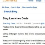 Bing Search Blog