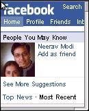 Opera Mini 4.3 Facebook