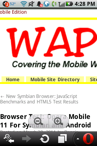 Wap Review » Blog Archive » Browser Test: Opera Mini 6 and