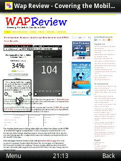 Opera Mobile 11 On Nokia N95 (non-touch)