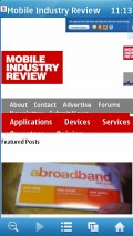 UC Browser 7.6 (Symbian) - Mobile Industry Review (Zoom Mode)