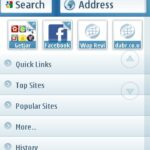 UC Browser 7.6 (Symbian) Home Screen